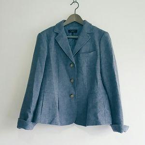 Talbots Blue Wool Blazer Size 14